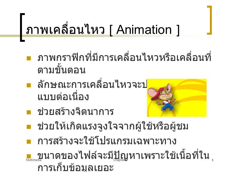 ภาพเคลื่อนไหว [ Animation ]